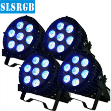 4pcs/lot 7 x 18W RGBWA+UV 6in1 Waterproof Led Par Light Outdoor LED Par Cans DMX LED PAR Light 6/10Channels No Noise Mini Size