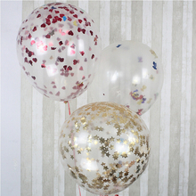 36 Inch Giant Transparent Confetti Party Balloon Blasting Balloons for Romantic Valentines Day Wedding Party Layout Decoration