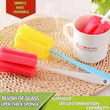 New Environmental Cleaning Brushes For Glass Milk Bottle/Family Use Glass Sponge Cup Brush/Brand Cheap Cleaning Brush