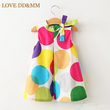 Girl Dress New Summer Lovely Kids Clothes Wave Bow Dot Colorful Leisure Fashion Dresses For Girls Children Clothing