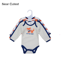 Near Cutest 3pcs/lot Winter Baby Rompers Newborn Infant Cotton Long Sleeve Jumpsuits Baby Boys Girl Clothing Bebes Clothes Wear
