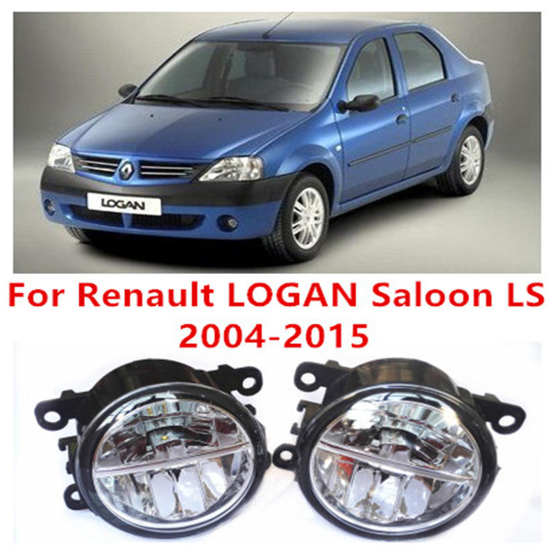 For Renault LOGAN Saloon LS  2004-2015 Fog Lamps LED Car Styling 10W Yellow White 2017 new lights<br><br>Aliexpress