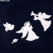 PANFELOU Christmas Angel playing music Scrapbooking card album paper die metal craft stencils punch cuts dies cutting(China)