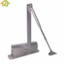 Commercial Door Closer 65-85kgs Silver Aluminium Alloy for Stainless Fireproof Iron Doors
