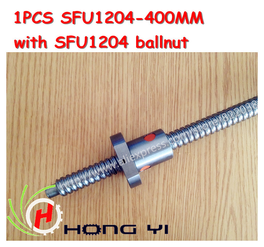 1pcs Ball screw SFU1204 - L400mm+ 1pcs RM1204 Ballscrew Ballnut for CNC and BK10 / BF10 standard processing<br>