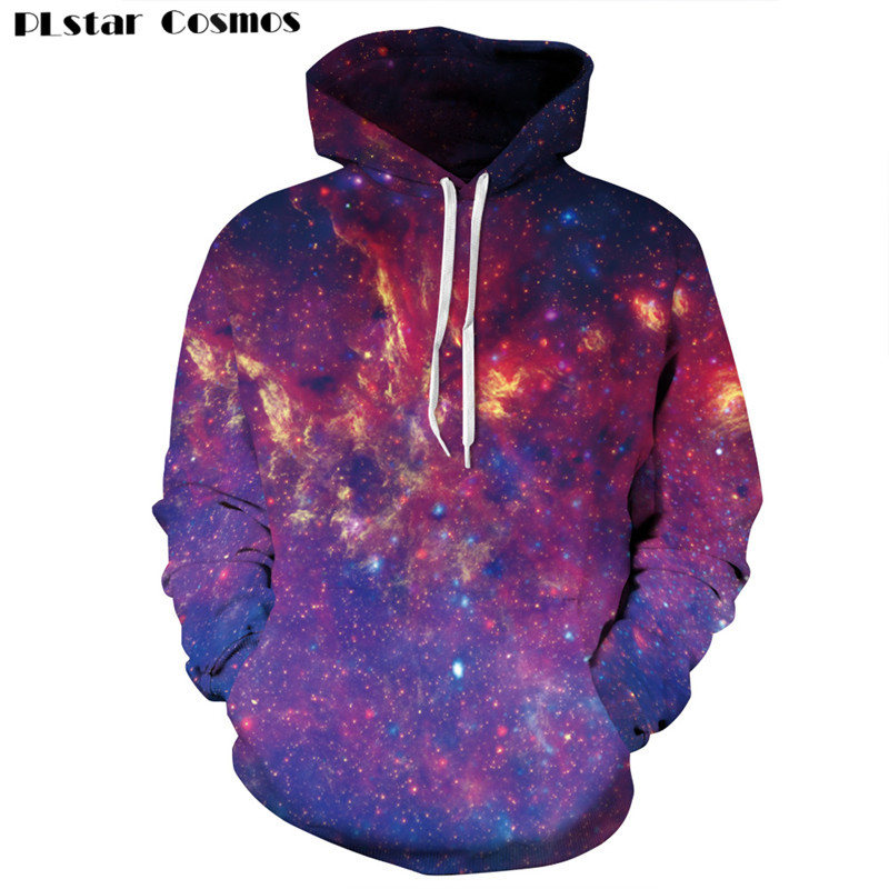 PLstar Cosmos Harajuku style Hoodies Space Galaxy Sweatshirt 3D Hoodie Coat Casual Streetwear Fashion Men Women Sweatshirts 1(China (Mainland))
