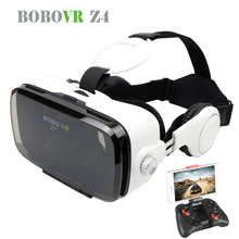 Hot! 2016 Google Cardboard BOBOVR Z4 Virtual Reality Goggles Immersive BOBOVR Z3 Upgraded Z4 VR BOX 3D Glasses Private Cinema(China)