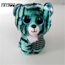 (YNYNOO)Ty Beanie Boos Kids Plush Toys Big Eyes Leona Blue Leopard Lovely Children's Christmas Gifts Kawaii Cute Stuffed Animals
