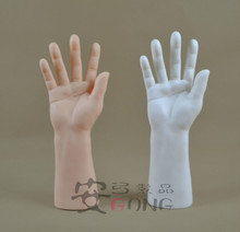 Rubber Jewelry Display Rack Men Hand Model Ring Holder Ring Display Stand Simulation Hand Male Mannequin For Ring or Glove(China)