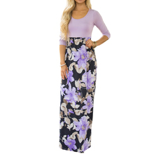 Buy Sexy Print dress women Summer party long maxi dress 2017 Womens Long-sleeved printed dresses vestido de festa clothes clothing for $15.15 in AliExpress store
