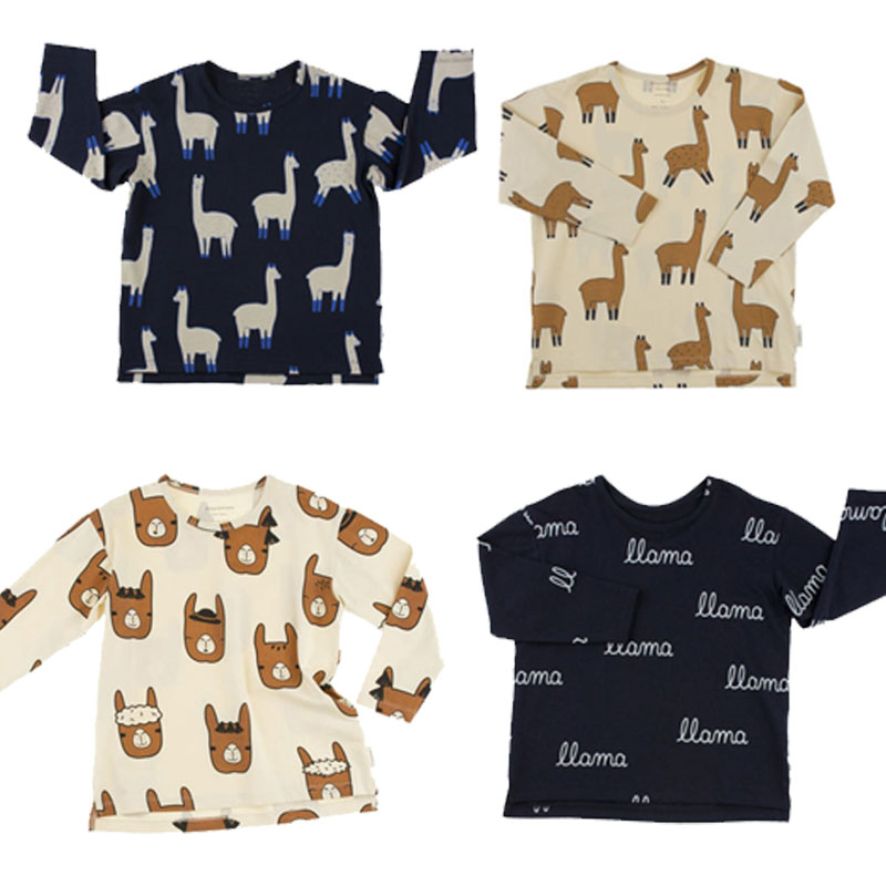 BBK Baby Boy clothes long Sleeve T-shirt Tops+Pants Tiny cottons Clothing Set Suit Animal alpaca&amp;letters printed kids shirts C*<br>