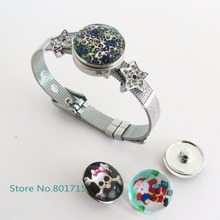 Buy 1 star set 8mm DIY Accessories Stainless Steel Wristband Bracelet button Fit 8mm Slide snap buttons Charms /Slide Letters for $2.56 in AliExpress store