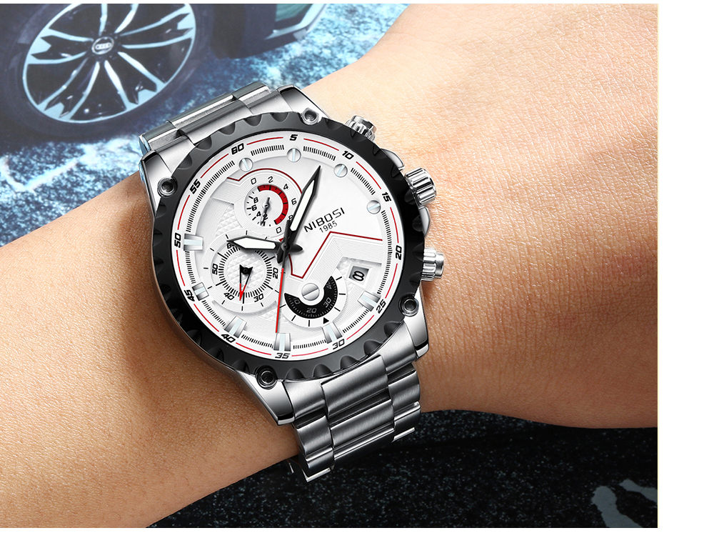 Military Watches Men Quartz Analog Men Watches Stainless Steel Time Date Clock Men Luxury Brand Hot Famous Brand Watches NIBOSI  (16)