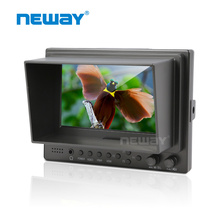 Free shipping 5 inch HDMI Camera Top LCD Monitor Field Monitor HDMI Ypbpr Video Audio input(China)
