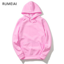 RUMEIAI 2017 New pink/black/gray/red HOODIE Hip Hop Street wear Sweatshirts Skateboard Men/Woman Pullover Hoodies Male Hoodie(China)