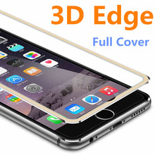 3D Edge Aluminum Alloy Tempered Glass Case Coque for iPhone 6 6S 7 Plus 5 5S 5SE Full Screen Protector Film Fundas for SE Cases(China)