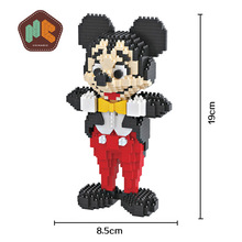 Bevle HC 9053 1378Pcs Classic Anime Mickey Mouse Cartoon DIY Magic Blocks Diamonds Building Block Toys Compatible with Lepin