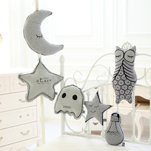 LUCKY BOY SUNDAY Glowing In The Dark Owl Moon Star Bulb Anti-Ghost Ghost Plush Toys Cute Cartoon Baby Appease Dolls Gift