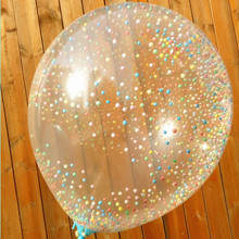 Multicolored 12inch Big Transparent Balloons Magic Latex balloons Pearl Globos Party Air Balloons Foam Filled Balloon toys gift(China)