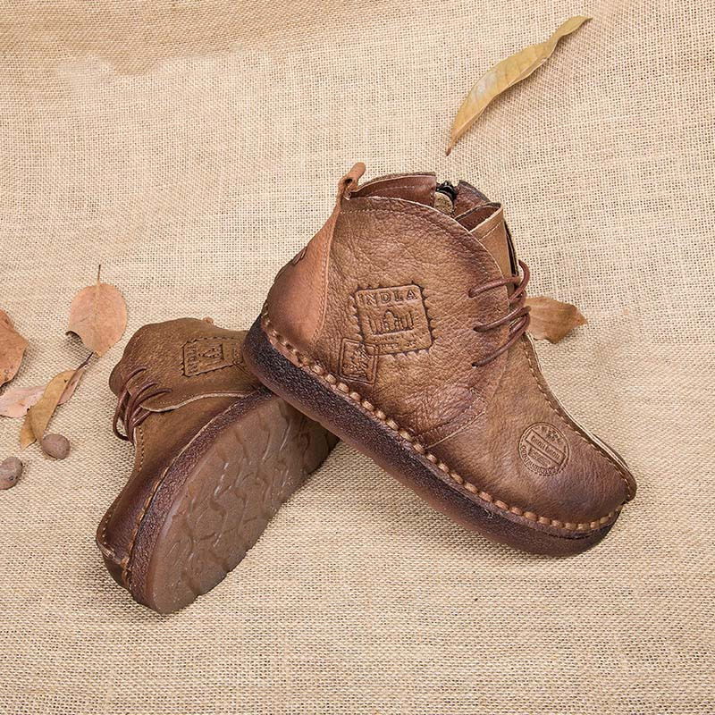 Tastabo-HOT-SALE-Shoes-Women-Retro-Boots-Handmade-Ankle-Boots-Flat-Boots-Real-Genuine-Leather-Shoes (2)