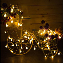 Bright 10M 100 LED Cherry Balls String Lights Holiday Wedding Christmas Outdoor Garland Home Decoration Night lamp Fairy Lights(China)