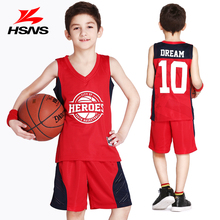 Customized LOGO Boy 125-175cm New Children's Basketball Suit Jersey with Short Sportwear Summer Sets Uniforms Print Name Number