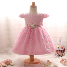 2017 Summer Newborn Formal Dress Purple Cap Sleeves Infant Baptism Ball Gown Dress Clothes For Toddler Girl First Birthday Party