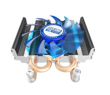 PCcooler S85 4pin pwm 2 heatpipe ultra-thin for HTPC mini case all-in-one for Intel 775/1155/1156 CPU cooler fan radiator Silent(China)