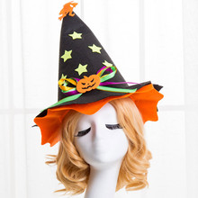 Fashion Masquerade Witch Hat Halloween Hat Parties Carnivals Party Decorative infant fotografia Photography Props Accesso #Jries(China)