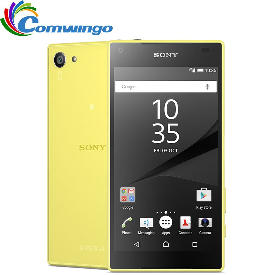 Sony Xperia Z5 Compact E5823 32GB Fingerprint Recognition 23mp Refurbished Smart-Phone title=