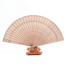 1 pcs 20cm fragrance wood fan Chinese style wedding fan with bride & groom's name & wedding date personalized