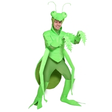 Halloween Funny Adult Men Praying Mantis Costume Lifelike Green Insect Performance Cosplay Clothing(China)