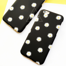 Fashion Lovely Daisy Floral Case For iphone 5S Case For iphone 5 6 6S PLus Cover Ultra Thin Frosted Cartoon Flower Phone Cases