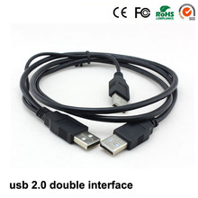 1m usb 2.0 Data Cables 480Mbp/s usb cable male to male Data line double type A for Hard disk box and computer(China)