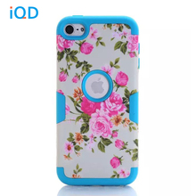 For iPod Touch 6 Case,Hybrid 3 Layer Hard Case Pattern Cover with Silicone Soft Shell Inside Case for iPod Touch 5 Generation