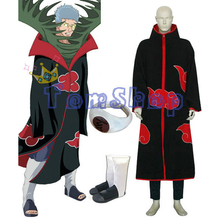 Anime Naruto Akatsuki Zetsu Deluxe Edition Cosplay Costume 3in1 Wholesale Combo Set (Cloak + Ninja Shoes + Ring) Free Shipping