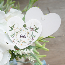 elegant orchid 95 pcs love heart shape paper labels packaging decoration tags as wedding birthday favor gifts tag label(China)