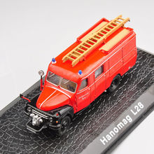 Kids toys 1/72 Scale Alloy Diecast Model Car Metal Alloy Diecast Hanomag L28 Fire Truck Car Toys For Children Toys Gifts