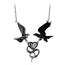 EUROPE Punk Two Birds Pendant Crystal Love Couple Bird Pendant Necklace Retro Zinc Alloy for Men Women Valentine's Day Gift(China)