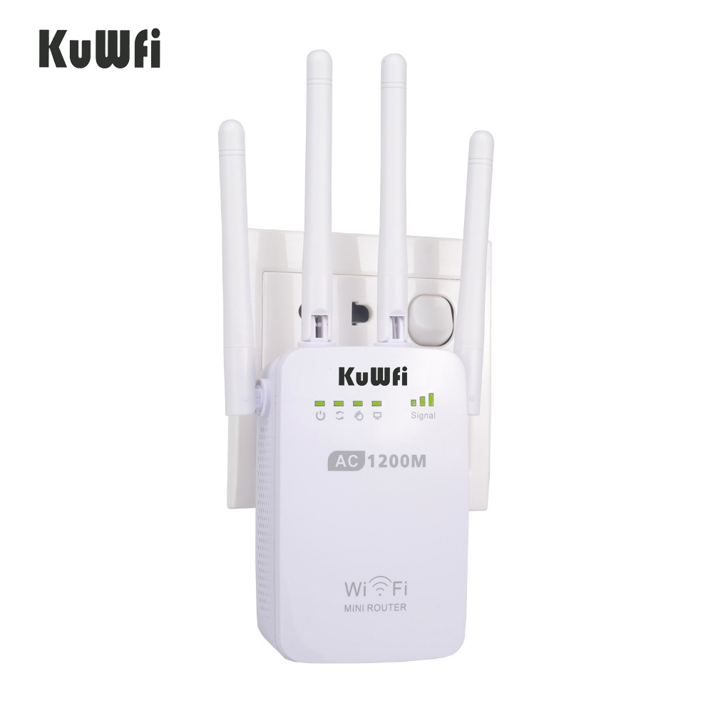 802.11AC 1200Mbps Wireless-AC Mini Router Dual Band 2.4G/5.8G Wifi Repeater Booster WPS 4 Antennas AP Extend Wifi Signal(China (Mainland))
