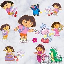New  cute dora cartoon wall stickers children's room dormitory bed decoration stickers notebook suitcase stickers kids love gift
