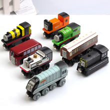 8Pcs/Lot Wooden Thomas Train Toys For Boy Train Magnetic Marshalling Educational Kids Toys Brinquedos For Children