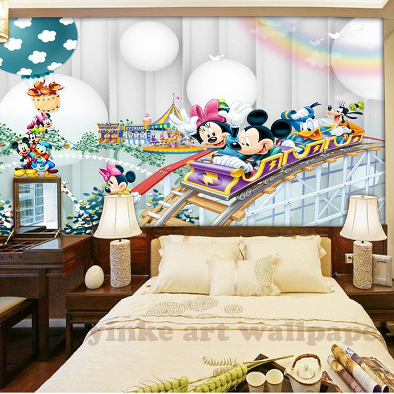 HTB1VZZBizihSKJjy0Flq6ydEXXaw - 3d Cartoon  wallpaper mural children  room non woven 3d wallpaper  for kids room baby bedroom' wall  3D  wall sticker wallpaper