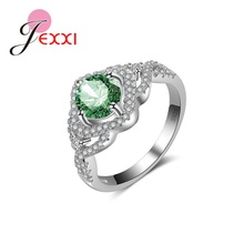 JEXXI Multi-color Optional New Arrival Female Ring  925 Sterling Silver Rings For Women Wholesale Ladies Gift.