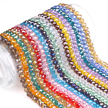 Glass Spacer Round Beaded 8MM 70PCS/LOT AB Color Crystal Loose Rondelle DIY Beads Crystals For Handicrafts Wholesale In Buck(China)