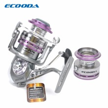 ECOODA Royal Sea Spinning Fishing Reel Metal Body Two Aluminum Spools Saltwater and Freshwater Open Face Reel ERS1500/2000/3000(China)