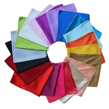 60x60cm Fashion style Imitation Silk Scarf Women Monochromatic Solid Color NeckerChief Bandana Small Square Scarf