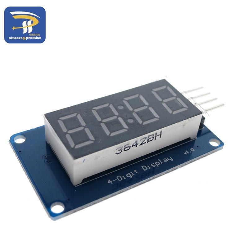 1pcs TM1637 4 Bits Digital LED Display Module For arduino 7 Segment 0.36Inch Clock RED Anode Tube Four Serial Driver Board Pack