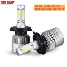 Buy Oslamp S2 H1 H3 H4 H7 H11 H13 9004 9005 9006 9007 9012 COB Chip LED Headlight Bulb Hi-lo Beam Single Beam 8000lm 12V 6500k for $21.98 in AliExpress store