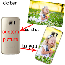 Custom Phone Cases Name DIY Design for Samsung Galaxy S7 S8 S6edge PLUS A3 A5 A7 J3 J7 J5 2017 2016 2015 S5 Silicon Soft Capinha(China)